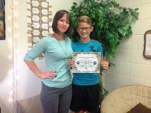 August Student of the Month!!!