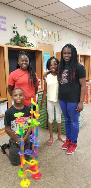 First group to successfully put together the Marble Run!