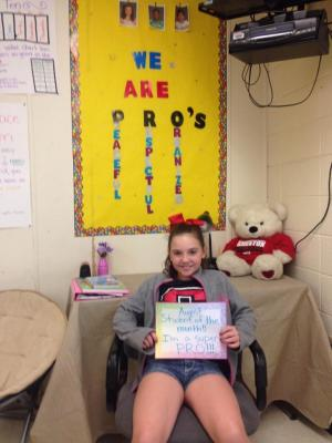 EMILY - MS. LACY'S STUDENT OF THE MONTH FOR AUGUST!!!