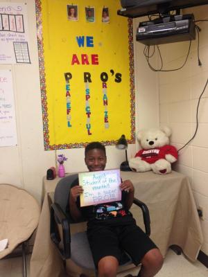 JAMARION - MRS. RIDINGS' STUDENT OF THE MONTH FOR AUGUST!!!