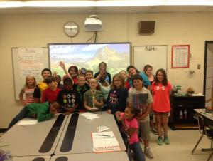 MRS. RIDINGS' CLASS WON THE ART TROPHIE THE FIRST WEEK OF SCHOOL!!!