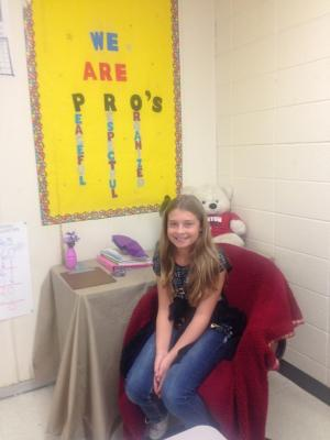 HANNAH - MS. LACY'S STUDENT OF THE MONTH FOR SEPTEMBER!!!