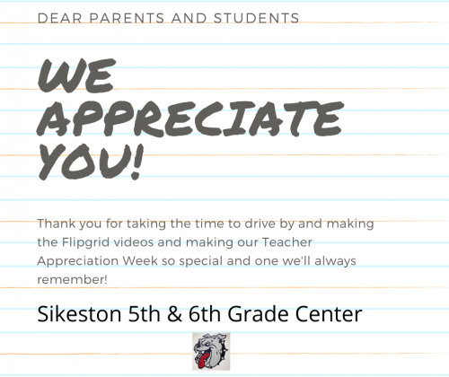 We Appreciate You!