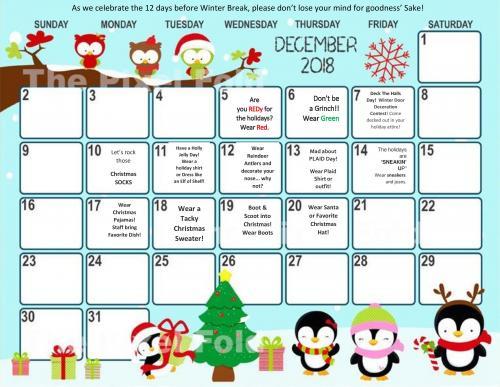 12 Days of Christmas Calendar