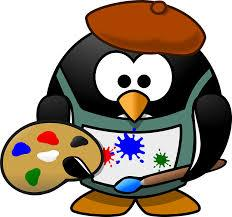 Penguin painter