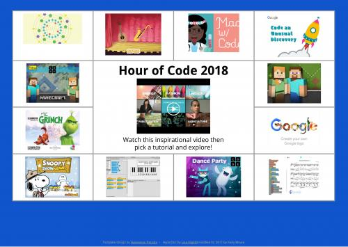 Hour of Code 2018 links