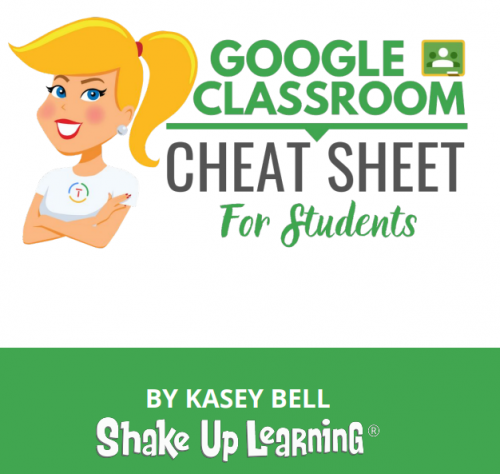 Classroom Google Cheat Sheet for STudents