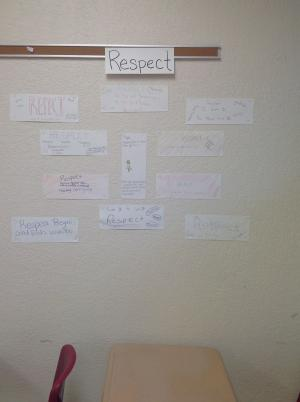 Respect Bumper Stickers created by Advisory class 8/24/16