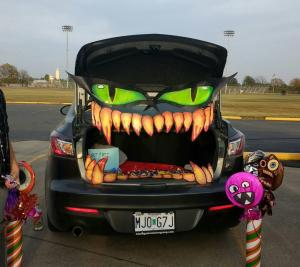 Trunk or Treat(monster car and Monster candy) 10/31/16