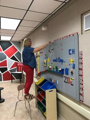 Fun at the Lego Wall!