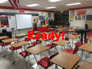 Getting the classroom ready for the first day