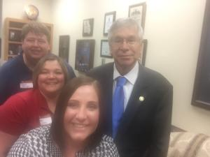 Meeting with our State Senator to talk about education issues