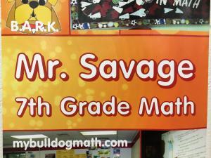 Mr. Savage teaches 7th Grade Math