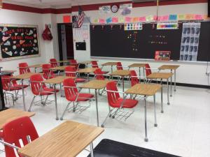 Getting our classroom ready for school to start!