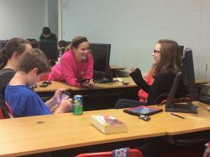 Students enjoy Math Club activities after school