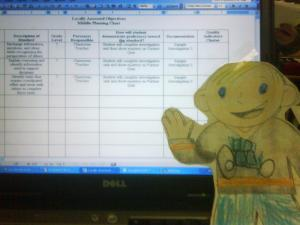 Flat Stanley comes to visit Mr. Savage's classroom.