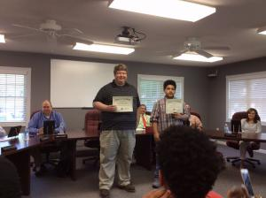 The Sikeston R-6 School Board recognized our State MATHCOUNTS Contest qualifier.