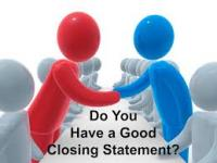 How to Deliver of a Closing Statement