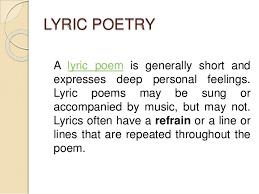 Video: Lyric poetry