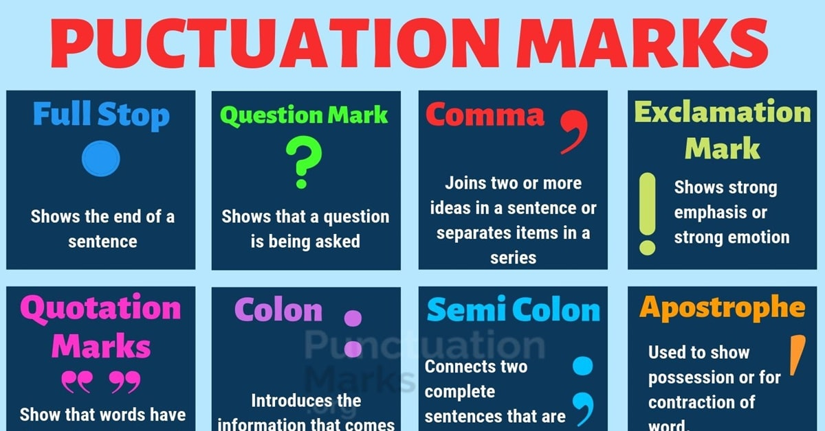 Commas, semicolons, and colons