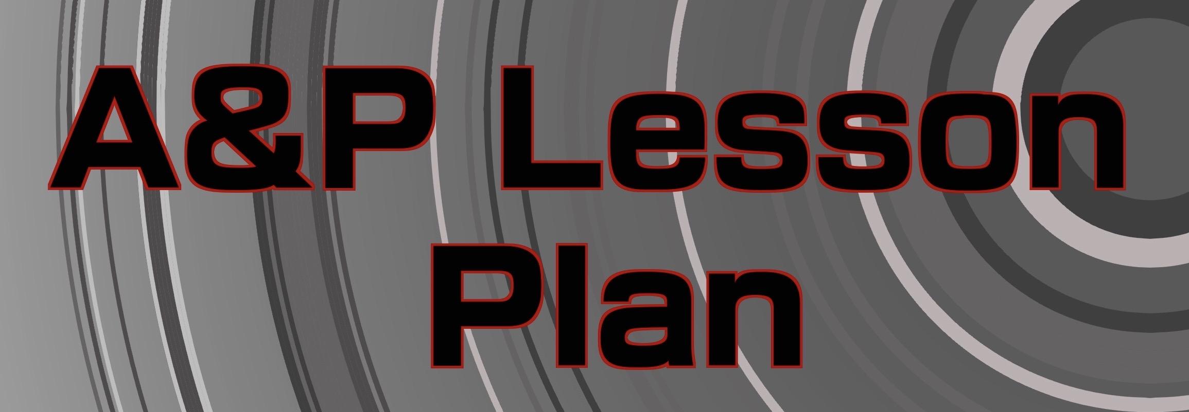 A&P Lesson Plans