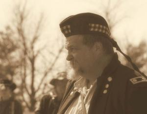 Mr. Justice wearing his Union Uniform at a reenactment