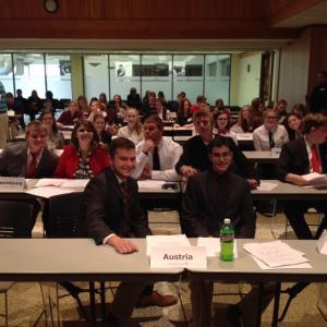 Model UN Delegates at General Assembly