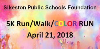 5K Run/Walk/Color Run April 21, 2018