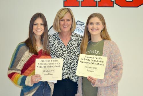 October Students of the Month:  Grace Blanton and Rory Jaynes