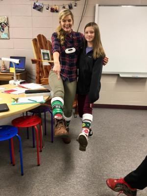 Matching Mrs.Lytle on Crazy Sock Day!