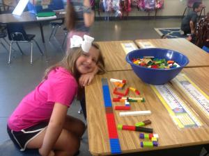 LEGO Fun! We introduced the four C's of STEAM, starting with creativity.