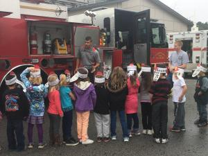 We had a visit from the Floral Fire Department for Fire Safety Day!
