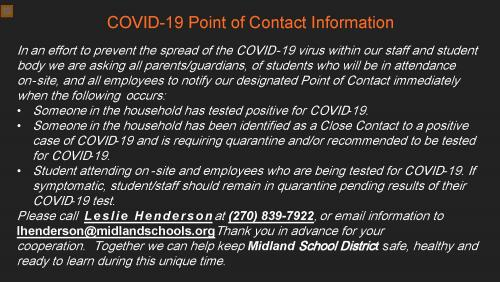 COVID-19 Point of Contact