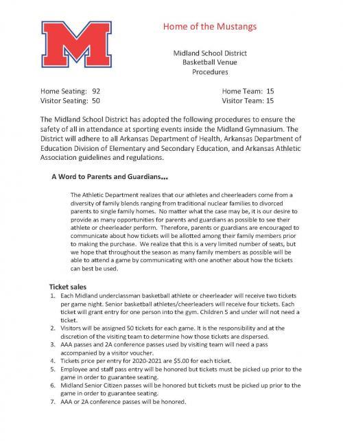Midland Basketball Attendance Information