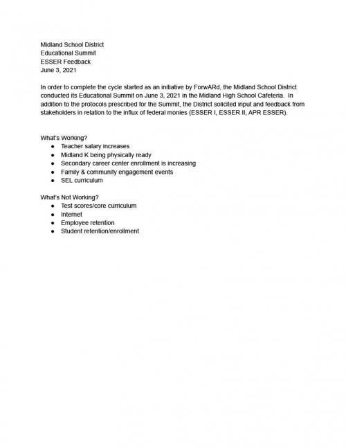 School Improvement Sheet 1