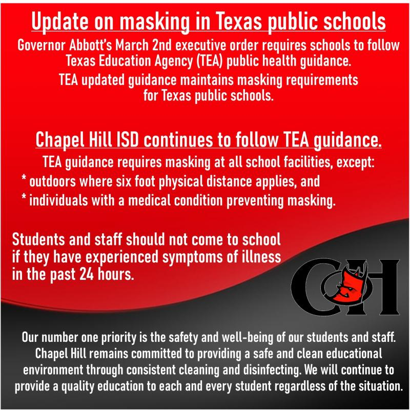 Update on Masking in Texas Public Schools