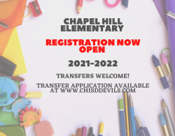 CH Elementary Registration for 2021-2022 School Year Now Open