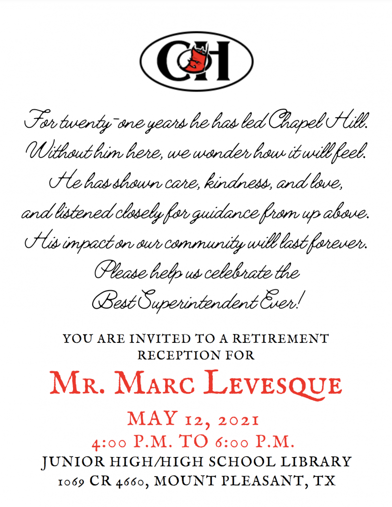 Retirement Celebration for Mr. Marc Levesque