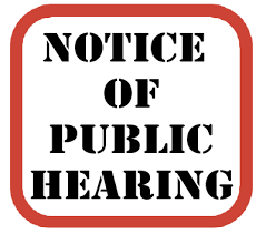 Thumbnail Image for Article Notice of Public Hearing- Feb 27, 2020 6pm
