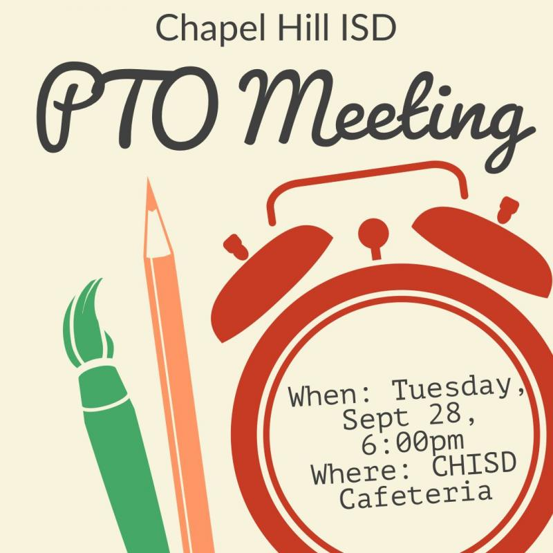 PTO Meeting- Tuesday, Sept 28 at 6pm
