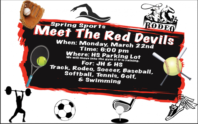 Meet the Red Devils- Spring Sports- March 22