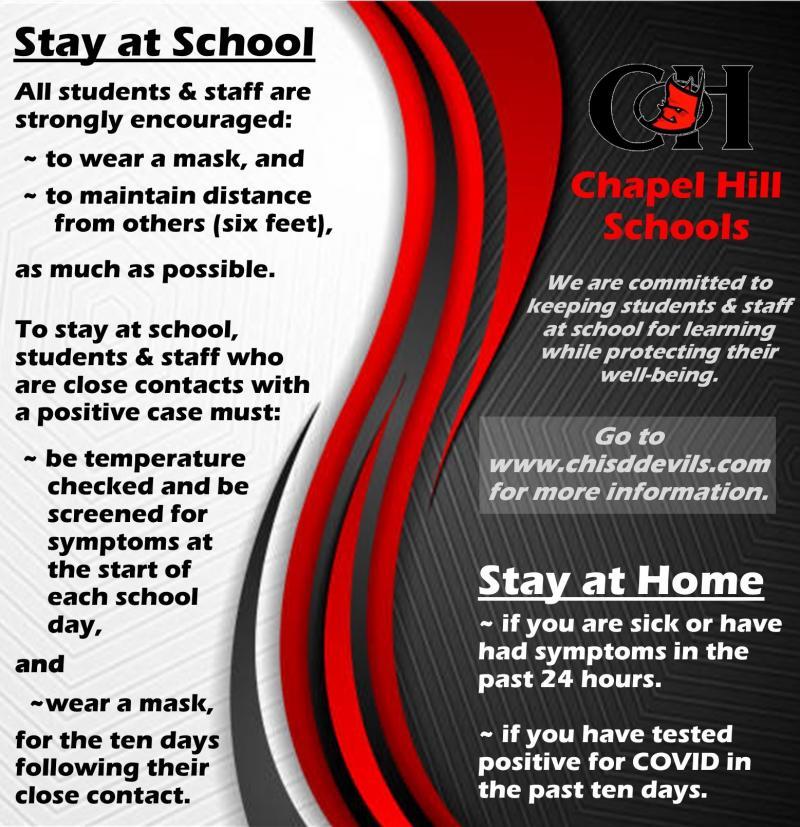 Stay at School (COVID Strategies)