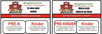 Pre-K and Kindergarten Registration is Now Open