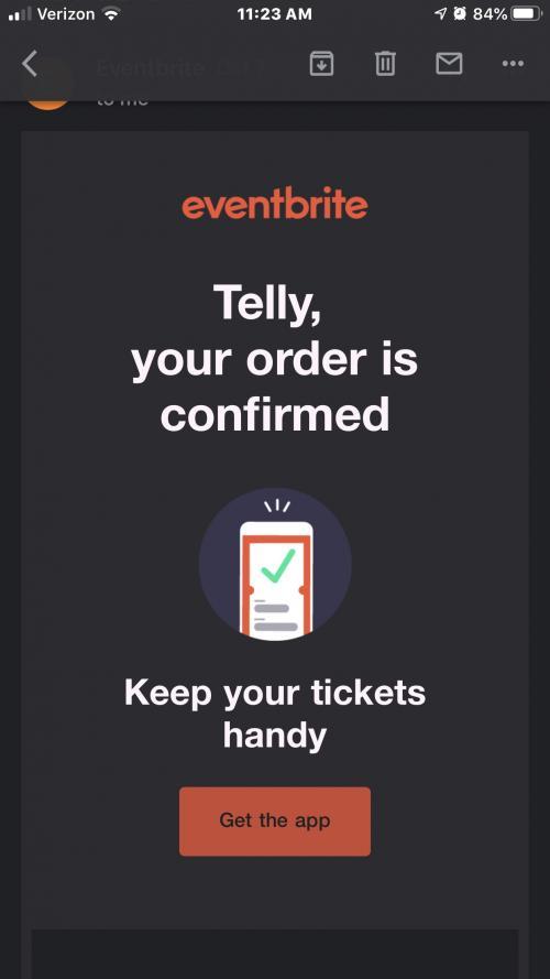 EventBrite Ticket Email