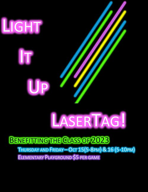 Class of 2023 Laser Tag Fundraiser