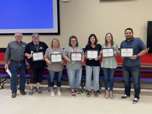 Teachers and Staff Members of the Year