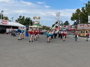 The Pride of Konawa competed in the State Fair Parade Marching Competition today and won 2A Second Place Band.
