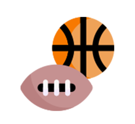 icon of a football and basketball