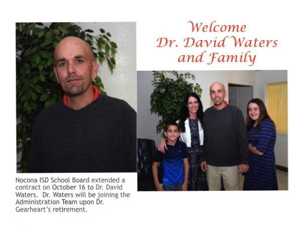 Welcome Dr. Waters