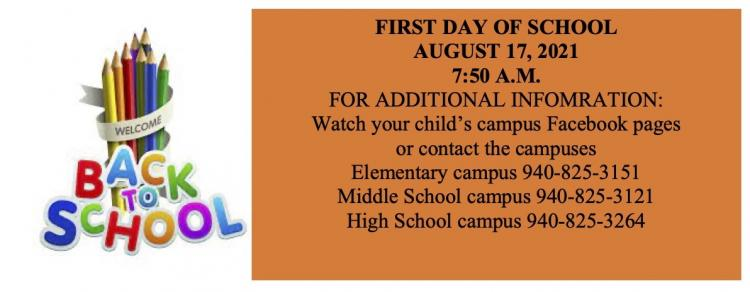 Back to school August 17, 2021